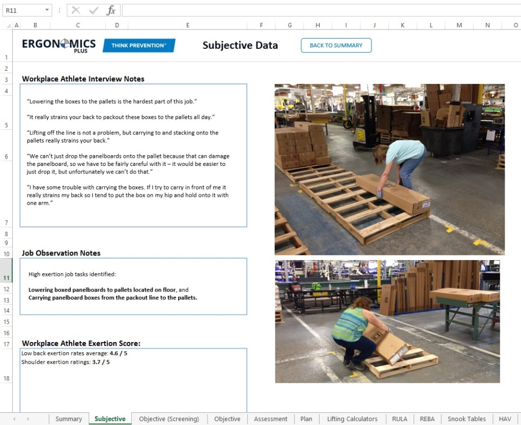 ergonomics case study This ergonomics case study features a simple improvement to a rolling pallet that reduced the force requirement by 50%.