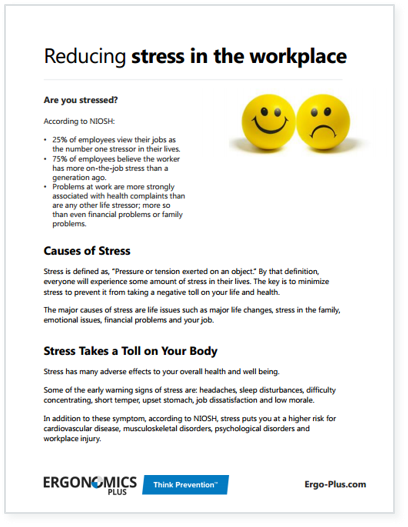 the causes and effects of stress in the workplace